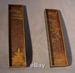 Fine Edo period 18thC Japanese Gold Lacquer Suzeribako (Writing Box)