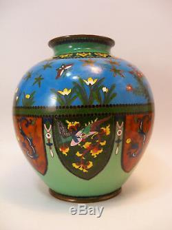 Fine Japanese Antique Cloisonne Vase Jar