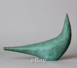 Fine Japanese Art Deco bronze Bird okimono by well known metal artist Z21