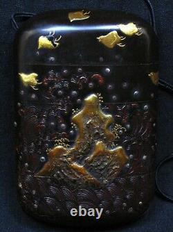 Fine Japanese Four Case Edo Period Inro Signed