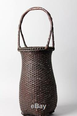 Fine Japanese Ikebana Bamboo Basket R37