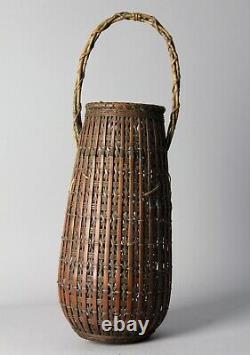 Fine Japanese Ikebana Bamboo Basket T99