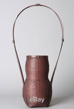 Fine Japanese Ikebana Bamboo Basket Y60