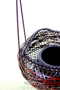 Fine Japanese Ikebana Bamboo Basket with Bamboo liner Flower Arrangement Kago