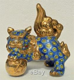 Fine Japanese Kutani porcelain foo dog