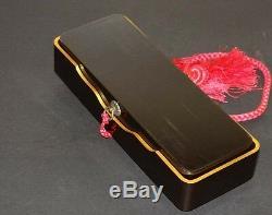 Fine Japanese Maki-e Lacquer Fubako Letter Box