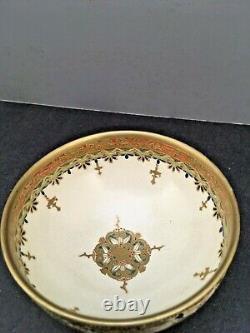 Fine Japanese Meiji Satsuma Bowl with Beautiful Decorations by Kazan