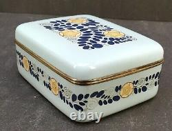 Fine Japanese Meiji Silver Wire Cloisonne Box by Ando