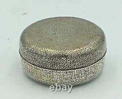 Fine Japanese Meiji Taisho Sterling Silver Box