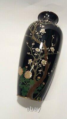 Fine Japanese Silver Wire Cloisonne Vase