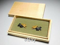 Fine Kinko Menuki Shishi Foo dogs 18/19C Japanese Edo Original Antique Koshirae