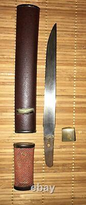 Fine Late Edo Era Japanese Mounted Ubu Mumei Tanto- Dagger, No Kizu