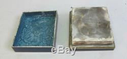 Fine MEIJI-ERA JAPANESE Cloisonne Box Blue with Flowers c. 1900 antique