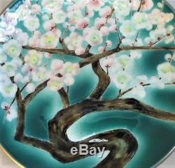 Fine Mid-20th C. JAPANESE CLOISONNE Charger Plate with Brilliant Enamels c. 1950