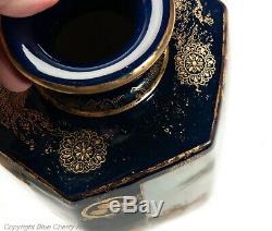 Fine Pair of Large Antique Meiji Japanese Satsuma Pottery Vases by Hattori