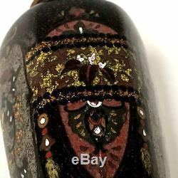 Fine Pair of Mirrored Image Antique Japanese Meiji Period Cloisonne Vase