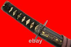 Fine Quality Japanese Samurai WAKIZASHI Sword with Rare Blade Tang & Nice Hamon