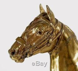 Fine RARE Japan Japanese Gilt Bronze Horse Sculpture Statue ca. 19-20th century