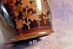 Fine Rare Antique Silver Wire Japanese Meiji Cloisonne Chrysanthemum 21cm Vase