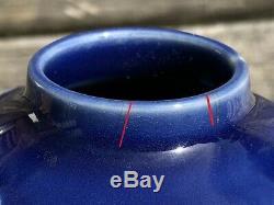 Fine & Rare Japanese 19thC Hirado Blue Enamel Porcelain Double Gourd Bottle Vase
