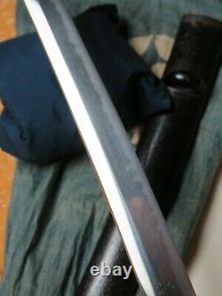 Fine Wakizashi Certificate edo antique sword Samurai Japanese Tachi tsuba Signed