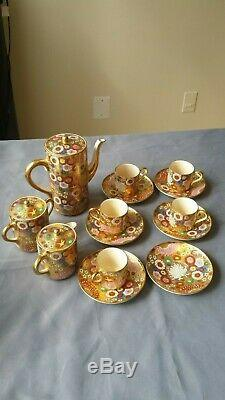Finely Decorated Antique Japanese Satsuma Thousand Flower Tea Set Very Detailed