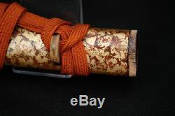 Japanese Antique great O-Tanto short Wakizashi Buddhist blade fine rare Koshirae