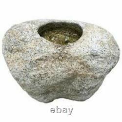Japanese Fine Antique Boulder Form Tsukubai Water Basin Used
