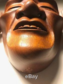 Japanese Fine-Art, Thin/Fragile Man, Yakusugi Wood, Signed Yamanaka UNESCO