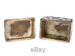 Japanese Fine Cloisonné Enamel Silver Wire Trinket Box