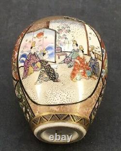 Japanese Meiji Satsuma Vase with fine various decorations, signed