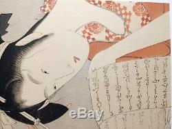 Japanese wood block Print Fine Art Asian Chinese Oriental woodblock Woman scroll