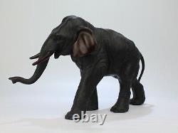 Large Antique Finely Cast Japanese Meiji Period Bronze Elephant Sculpture BR
