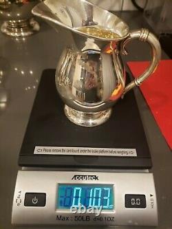 MID-CENTURY JAPANESE MIYATA 950 FINE SILVER 6 PIECE COFFEE/TEA SET 2,832 gr/6lb+