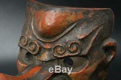 MSK113 FINE Japanese old wooden Tengu Mask esoteric Buddhism #Noh shinto