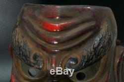 MSK132 FINE Japanese old Kanshitsu Tengu Mask esoteric Buddhism #Noh shinto