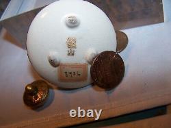 Miniature Tea Pot Kettle Marked Kinkozan Satsuma Japanese Meiji Fine Work