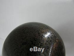 Old Ando Cloissone Antique Cloisonne Enamel Fine Detail Japanese Vase
