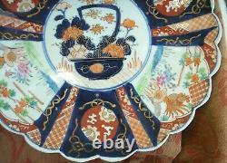 Old Antique Japanese Meiji Imari Porcelain Large Charger Plate C. 1890 Japan Fine