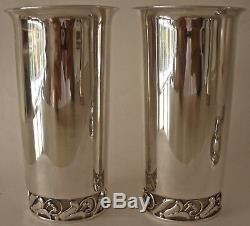 Pair Japanese 950 Fine Sterling MID Century Modern Lapaglia Style Tumbler Cups