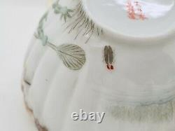 Rare Antique Japanese Fine Porcelain Cup & Saucer Satsuma Kutani Frogs AE3