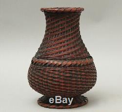 Set of Fine Japanese Ikebana Bamboo Baskets T18