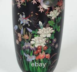 Signed Hayashi Chuzo Fine Japanese Meiji Cloisonne Vase