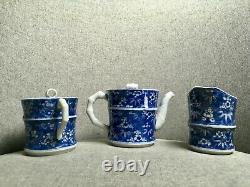 Stunning Fine Japanese Antique Porcelain Tea Set Imari Arita Meiji Signed 19th C