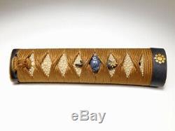 TSUKA Sword Handle w Fine Fittings 18/19C Japanese Edo Original Antique Koshirae