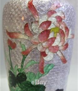 Very Fine 6 JAPANESE MEIJI-ERA Cloisonne Vase with Floral Design c. 1880 antique