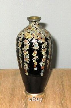Very Fine Elegant Japanese Millefleur Cloisonne Enamel Vase Hayashi