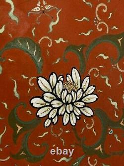 Very Fine Japan Japanese Cloisonne Chrysanthemum Decoration Charger ca. 19th c