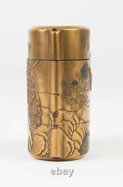 Very Fine Japan Japanese Taisho Reign Gilt raised decoration Inro c. 1900 AD