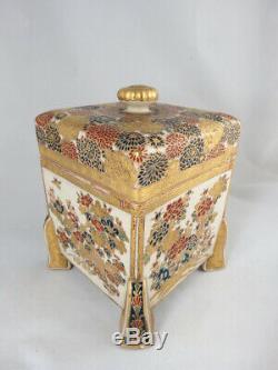 Very Fine Japanese Satsuma Box With Cover, Meiji Period, Circa 1890